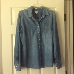 J. Crew Factory chambray shirt